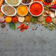 Spices and herbs.Food and cuisine ingredients for decorate design project.
